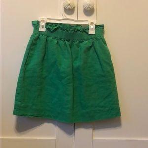 Green J Crew Skirt